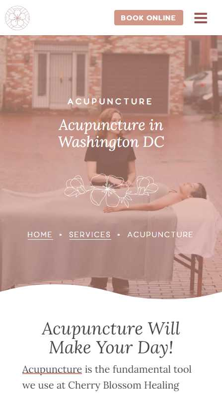 Cherry Blossom Healing Arts - mobile screenshot - acupuncture - 1