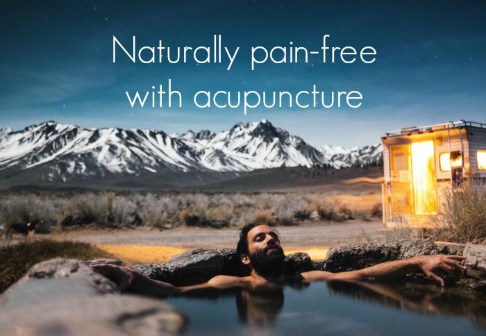 naturally pain free with acupuncture